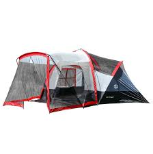tahoe gear zion 9 person and three season family tent with screen