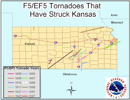 Map Of Counties In Kansas Top Ten Ks Tornadoes