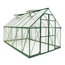 Palram Harmony 6 X 8 Palram Balance 8 Ft X 12 Ft Green Polycarbonate Greenhouse