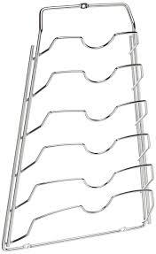 Cabinet Door Pot Lid Organizer Amazon Com Organize It All Cabinet Door Lid Rack Chrome Finish