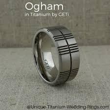titanium wedding rings uk custom ogham wedding ring in titanium make in the uk by geti