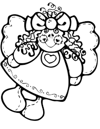 christmas angel doll coloring free printable coloring pages