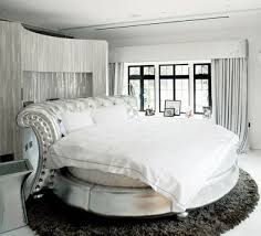 Circular Bed Frame Unique Beds White Circle Bed Design Unique Feature In