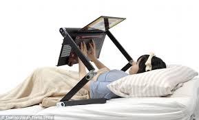 Laptop Bed Desk Make A Lie In More Productive Desk Supports A Laptop