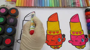 lippy lips coloring page shopkins coloring pages youtube