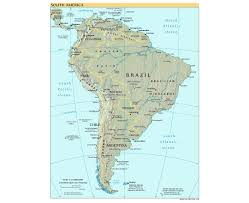 Caribbean Map With Capitals by Map Of South America Countries And Capitals Map Of South America