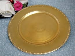 24 pc 13 gold beaded charger plates wedding table sale ebay