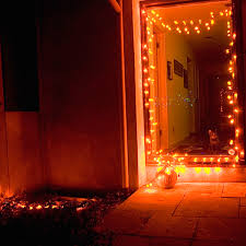 images of orange icicle lights decorations
