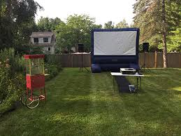 Backyard Movie Night Rental Marblehead Tent Event U0026 Party Rentals Gallery Page Serving