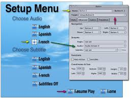 authoring a setup menu with conditional resume play in dvd studio