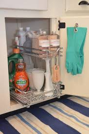 under sink kitchen organizer ikea copper backsplash on stove pull