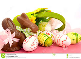 happy easter chocolate bunny royalty free stock photos image