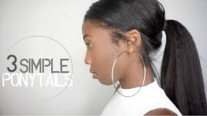 clip on ponytail 3 simple easy ponytail clip in hairstyles knappy hair