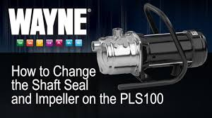 how to change the shaft seal and impeller on the pls100 youtube