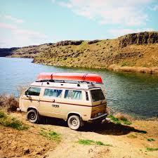 old volkswagen hippie van vw camper van rental for seattle and the pacific northwestblack