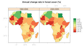 Africa On The Map by A Map Of Deforestation In Africa Using R U2013 Ecostudies
