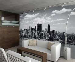 new york city black and white mural