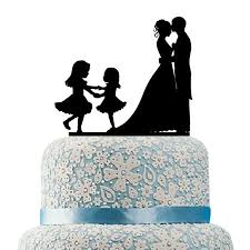 family cake toppers hilbott family wedding cake topper and groom two