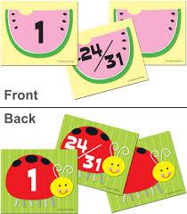 watermelon ladybug calendar cover up cut outs grade pk 5 carson