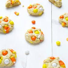 candy corn white chocolate m u0026m cream cheese cookies recipe