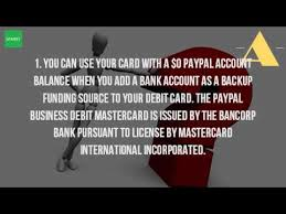 bancorp bank prepaid cards what is a paypal business debit card