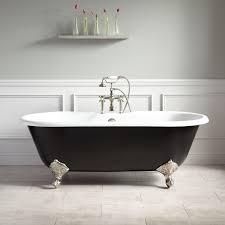 66 sanford cast iron clawfoot tub imperial black