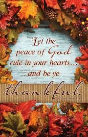 thanksgiving bulletin let the peace of god