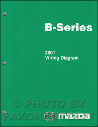 2001 mazda b series pickup truck wiring diagram manual original