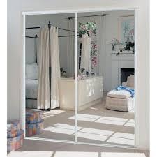 Interior Sliding Doors Home Depot Truporte 48 In X 80 In 230 Series White Mirror Interior Sliding