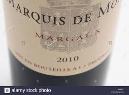 second wine wine label of a bottle of marquis de mons second wine of tour de