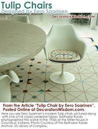 Saarinen Arm Chair Design Ideas The Tulip Chair By Eero Saarinen U2013 Decorator U0027s Wisdom