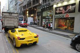 ferrari yellow car file hk central wellington street carpark yellow 法拉利 ferrari