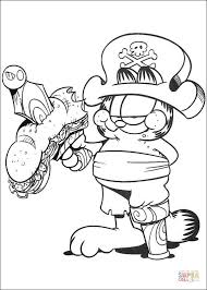 garfield pirate coloring page free printable coloring pages