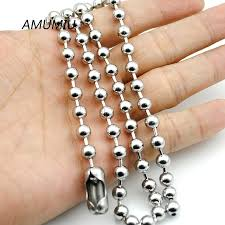 stainless steel ball necklace images Amumiu 6mm mens ball chain necklace 40cm 70cm stainless steel bead jpg