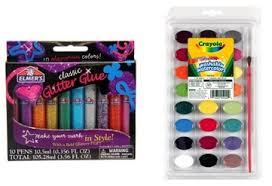 crayola paint and elmer u0027s glitter glue 3 97