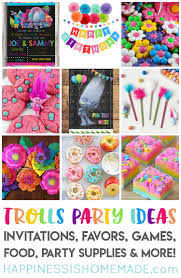 birthday party ideas the best trolls birthday party ideas happiness is