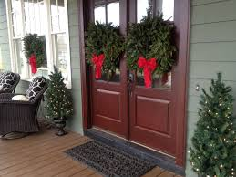 exteriors wonderful front porch christmas decorating brown front