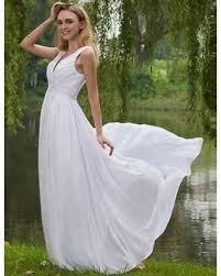 bargains on costbuys chiffon white ivory outdoor pregnant wedding