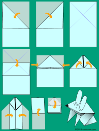 make a jumping origami bunny easter and spring crafts aunt