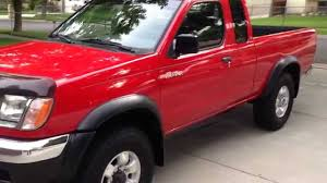 red nissan frontier lifted 1999 nissan frontier xe v6 5 speed youtube