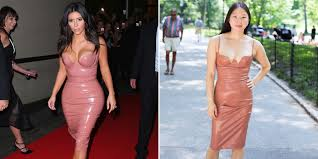 what it u0027s really like to wear kim kardashian u0027s latex dress