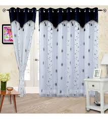 Sheer Door Curtains Buy Cortina Embroidery White Polyester 84x48 Inch Door Curtain