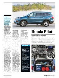2013 honda pilot consumer reviews consumer reports cars november 2016