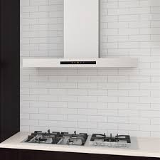 ancona an 11 convertible wall mounted rectangular range hood with