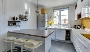 cuisine appartement parisien idée relooking cuisine aménagée dans un appartement parisien
