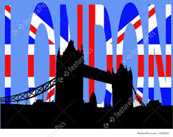 England Flag Jpg Tower Bridge London Against British Flag Stock Illustration