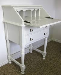 Cheap White Desk With Hutch by Antique White Secretary Desk Hutch With Classic Drop Front