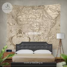 Vintage Map Antique Map Of Africa Wall Tapestry Vintage Interior Map Wall