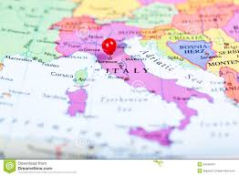 Map Of Italy Cities by Red Push Pin On Map Of Italy Stock Photo Image 53495976