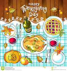 thanksgiving dinner pictures clip art thanksgiving day food stock vector image 61210665